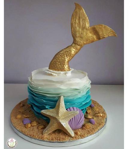 Mermaid Themed Cake 17
