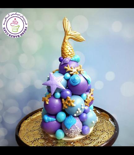 Cake Pops Tower - Mermaid