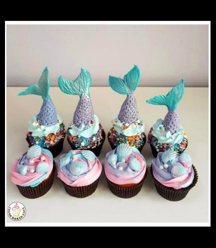 Mermaid Themed Cupcakes 01