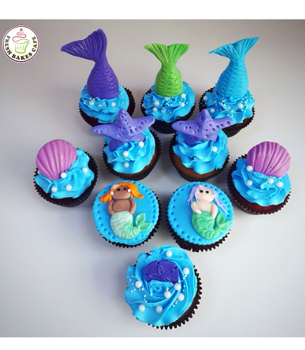 Cupcakes - Mermaid Tail & 2D Mermaid