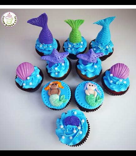 Mermaid Themed Cupcakes 04