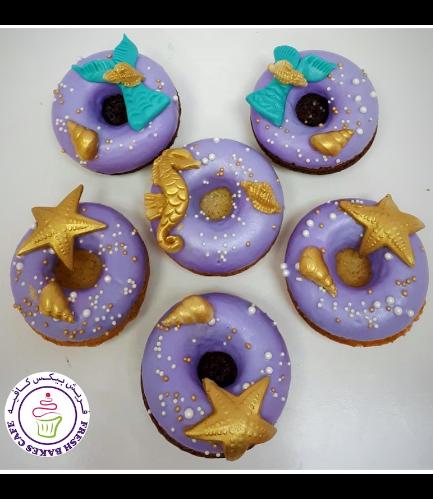 Mermaid Themed Donuts 02 - Purple