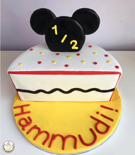Babys 6 Months Birthday Celebration Themed Cake 02