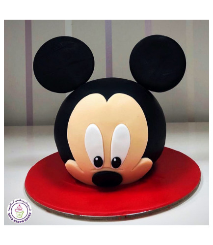 Mickey Mouse Themed Cake - Head - 3D Cake