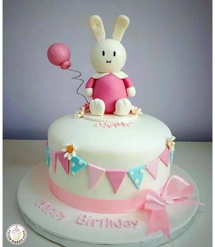 Rabbit Themed Cake - Miffy - 3D Cake Topper 02