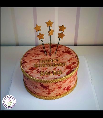 Cake - Military - Beige Camo - Stars