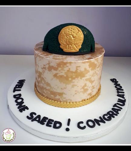 Cake - Military - Beret Cap 03