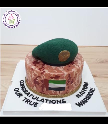 Cake - Military - Beret Cap 05