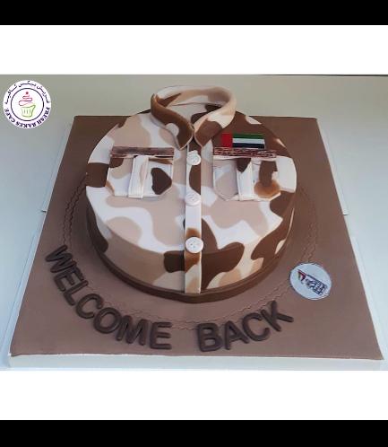 Cake - Military - Uniform - Round 03