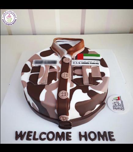 Cake - Military - Uniform - Round 02