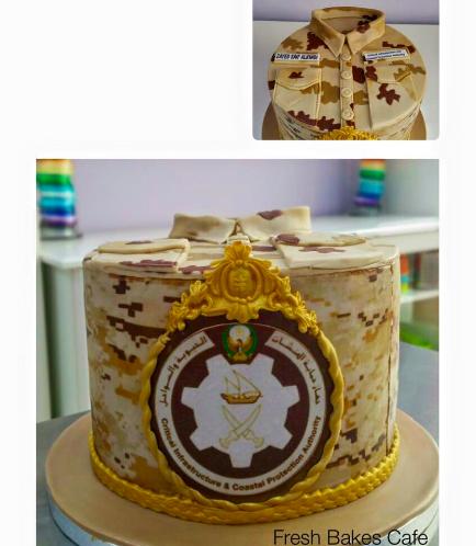 Cake - Military - Uniform - Round with Logo