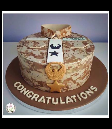 Cake - Military - Uniform - Round 04