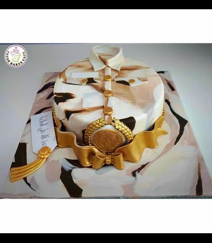 Cake - Military - Uniform - Round 05