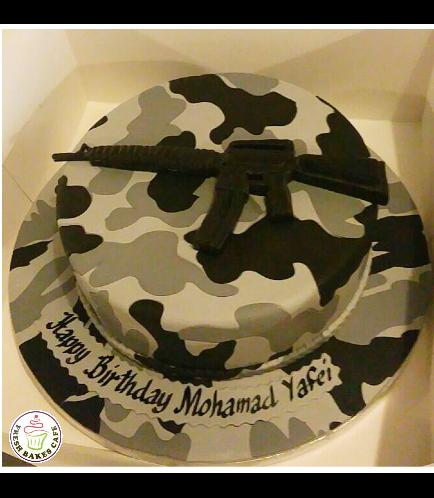 Cake - Army Camo 06