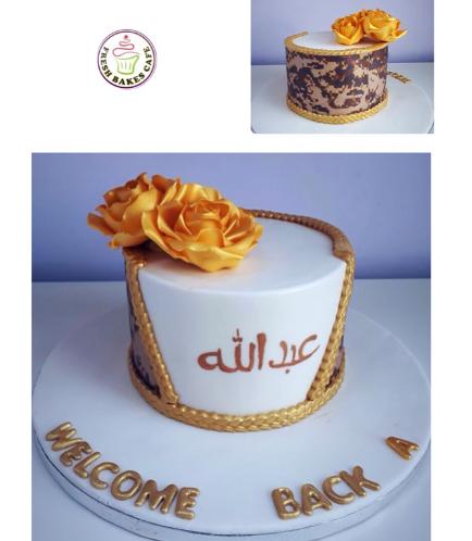 Cake - Military - Roses