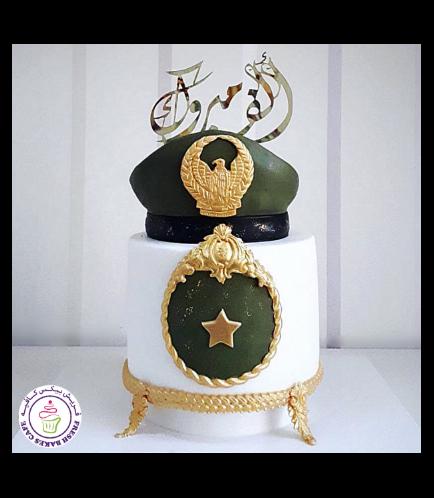 Abu Dhabi Police Uniform Themed Cake 09