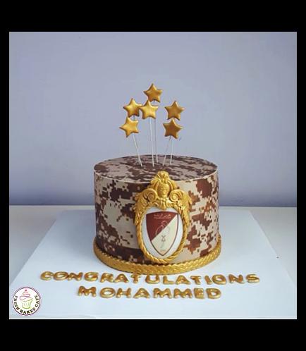 Cake - Military - Logo - Printed 02