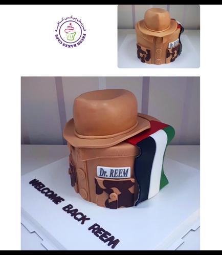 Cake - Military - Hat & Flag