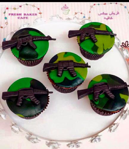 Cupcakes - Army Camo 01