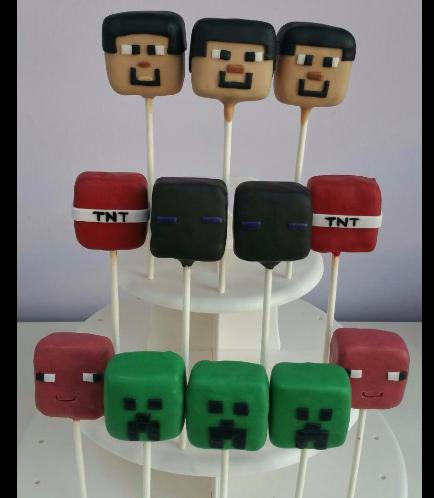 Minecraft Themed Cake Pops 01