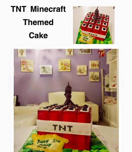 Minecraft Themed Cake 12