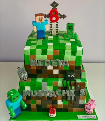 Minecraft Themed Cake 16a