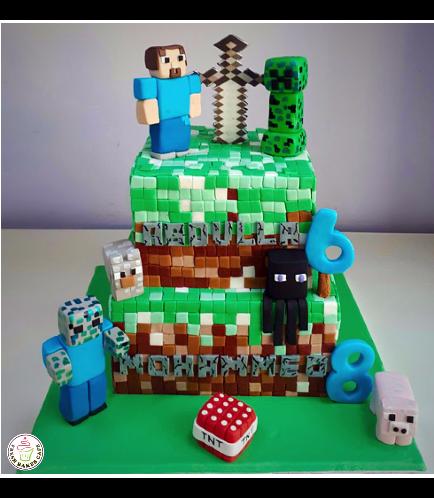 Minecraft Themed Cake 16b