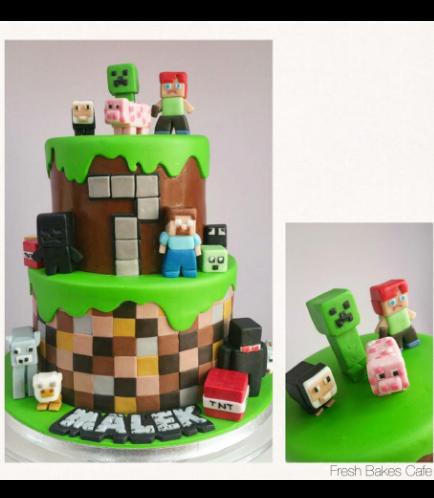 Minecraft Themed Cake 17