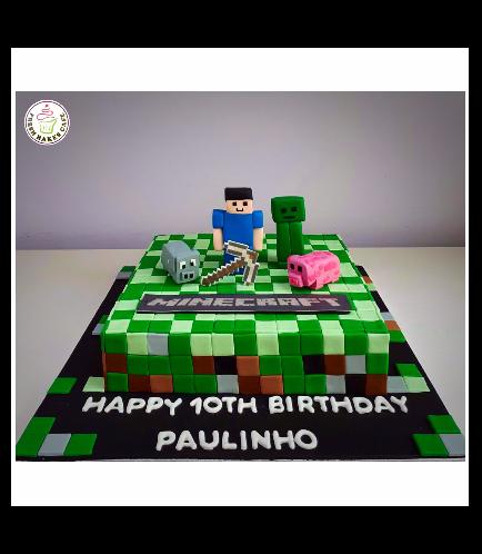 Minecraft Themed Cake 18b