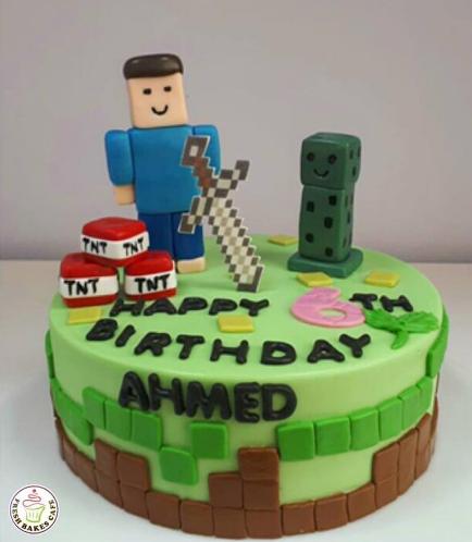 Minecraft Themed Cake 22