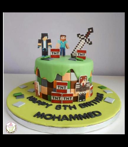Minecraft Themed Cake 23