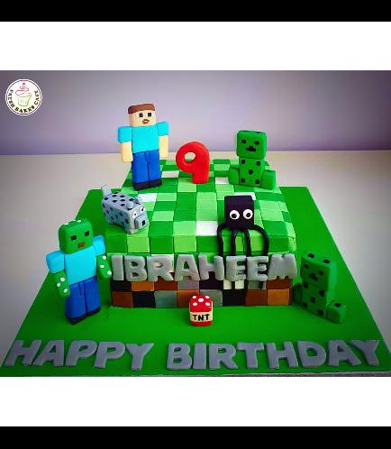 Minecraft Themed Cake 24