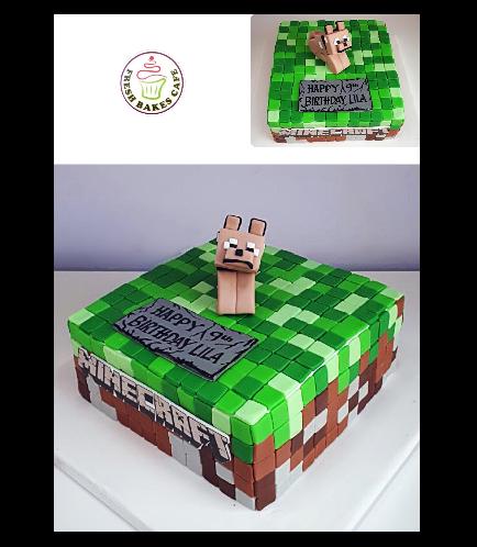 Minecraft Themed Cake 25