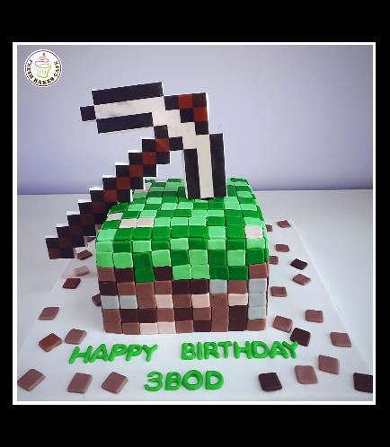 Minecraft Themed Cake 26