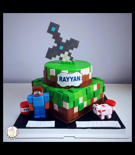 Cake - Sword - Printed Sword & 3D Characters - 2 Tier 03