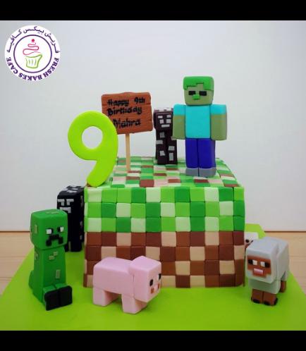 Minecraft Themed Cake 04