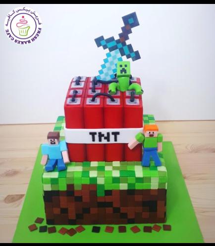 Cake - Sword - Printed Sword & 3D Characters - 2 Tier 02