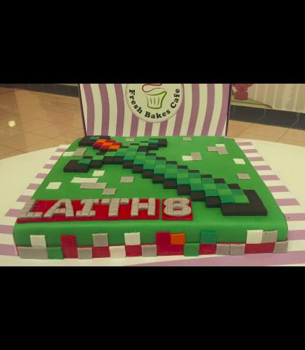 Minecraft Themed Cake 08
