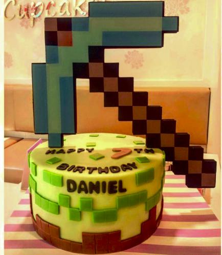Minecraft Themed Cake 09