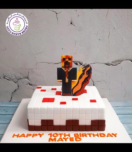 Cake - Minecraft Cake & Printed Picture