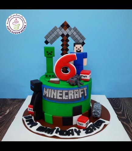 Cake - Pickaxe - Fondant - 3D Characters
