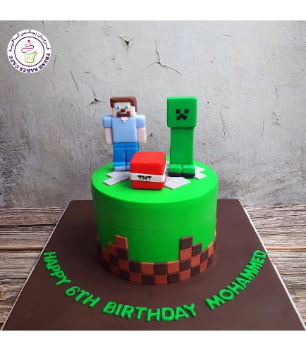 Cake - Round - 3D Characters - 1 Tier 03