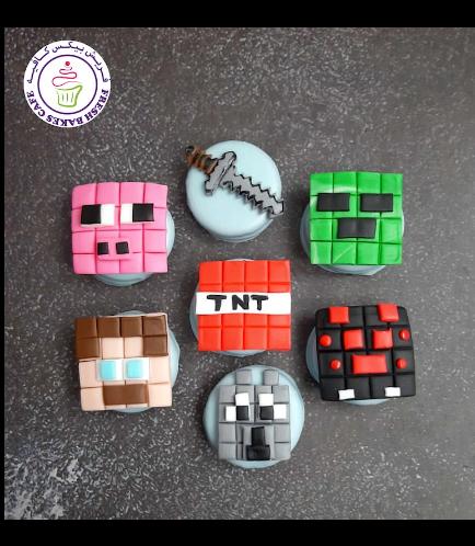 Minecraft Themed Chocolate Covered Oreos