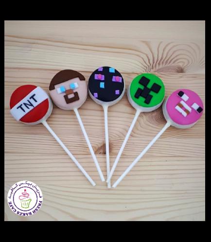 Minecraft Themed Donut Pops