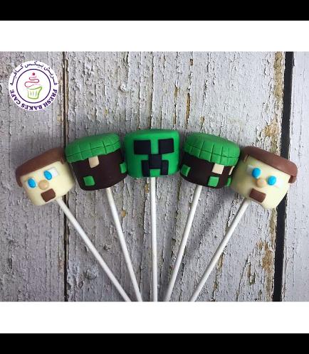 Minecraft Themed Marshmallow Pops - 1 Piece