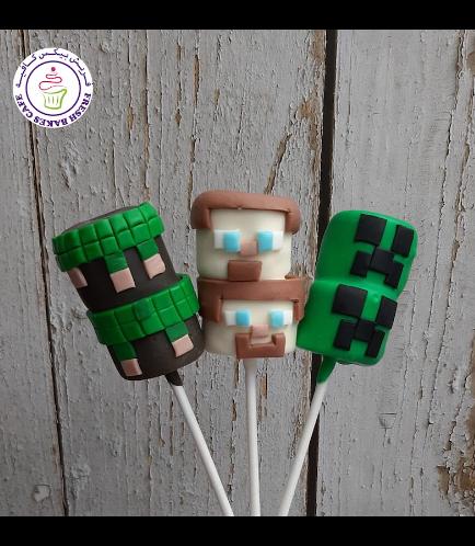 Minecraft Themed Marshmallow Pops