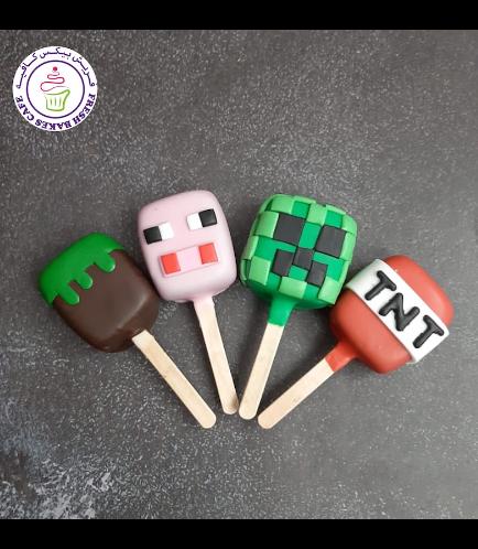 Minecraft Themed Popsicakes 02