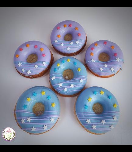 Blue & Purple Donuts