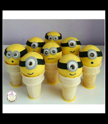 Minions Themed Cone Cake Pops 01
