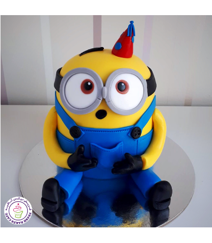 Cake - Party Hat - Minion - 3D Cake 01